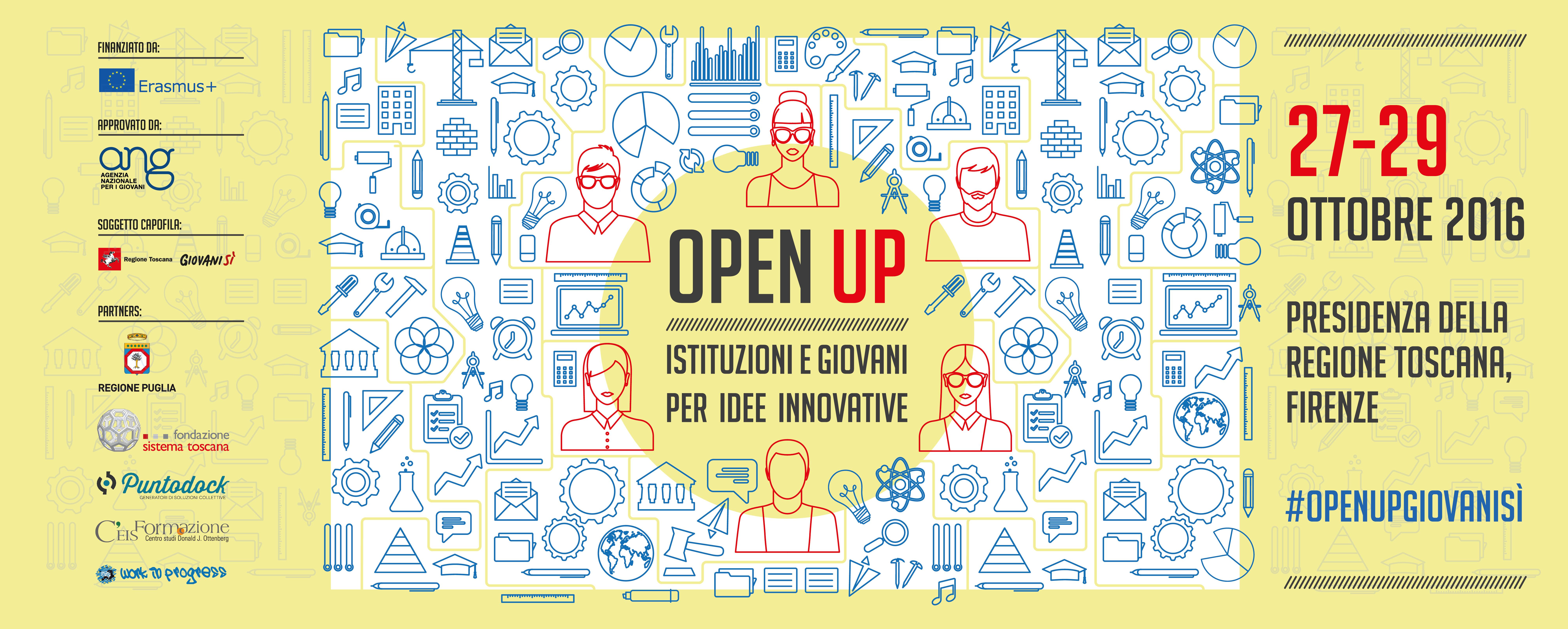 'OPEN UP. Istituzioni e giovani per idee innovative' <div class='giovanisi-subtitle'>Concluse le attività del progetto di Giovanisì finanziato da Erasmus+: leggi il report e ripercorri tutte le tappe </div>