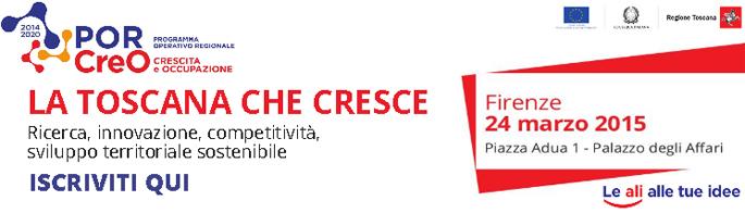 Por Creo Fesr 2014-2020: l'evento di lancio il 24 marzo a Firenze