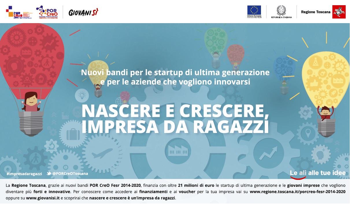 Bandi PORCreO in uscita il 15 ottobre: 21 milioni di euro per imprese giovanili