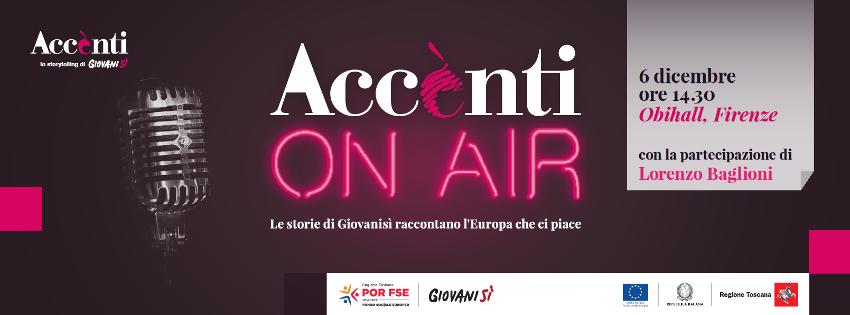 6/12 Evento FSE: 'Accènti on air', le storie di Giovanisì in uno spettacolo teatrale