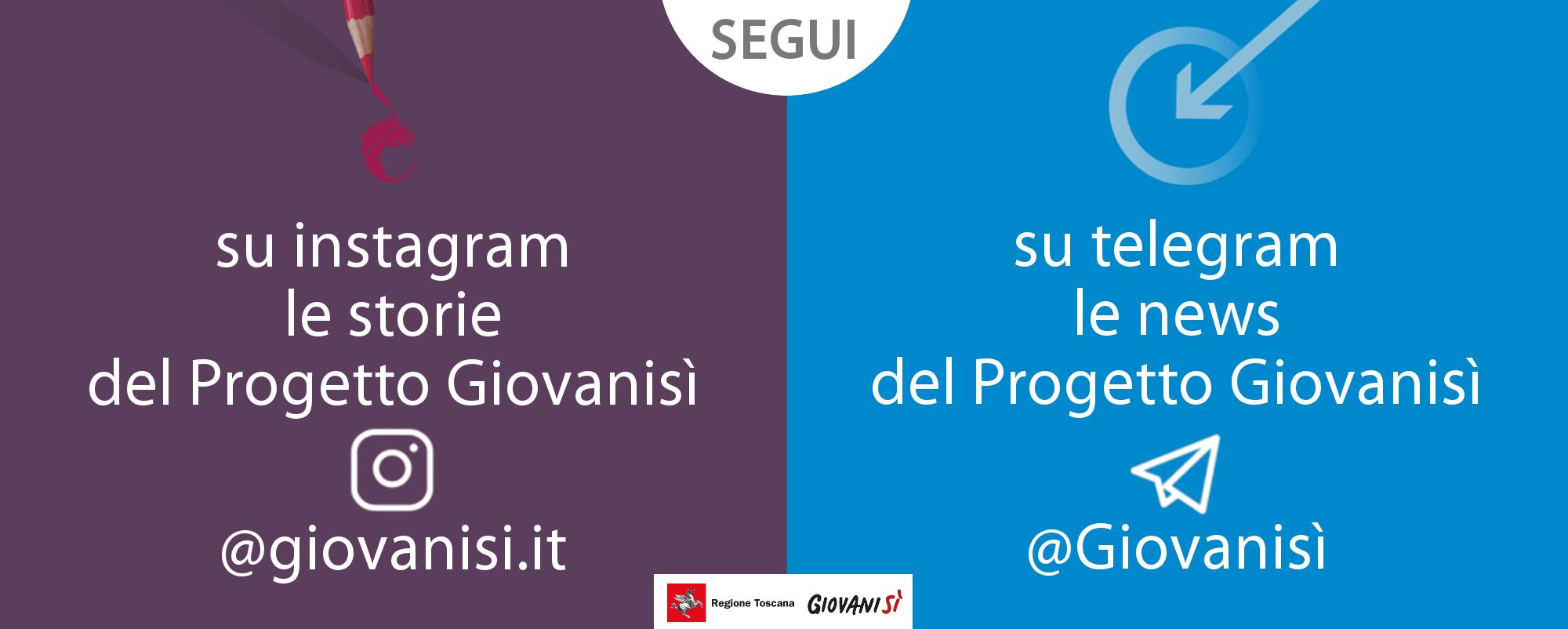 Giovanisì social: segui il progetto anche su Instagram e Telegram