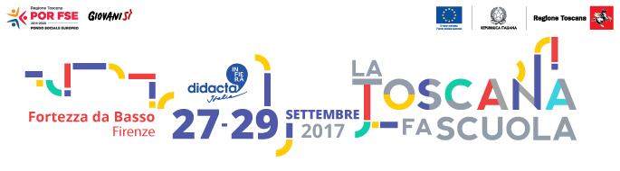 Didacta Italia: dal 27 al 29 settembre a Firenze il grande evento dedicato alla scuola <div class='giovanisi-subtitle'>Allo stand della Regione Toscana sarà presente anche un corner informativo sul progetto Giovanisì</div>