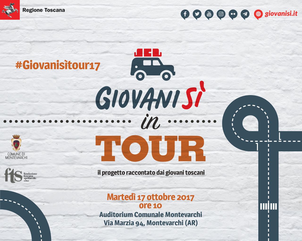 """""""Giovanisì in tour: il progetto raccontato dai giovani toscani"""" il 17/10 a Montevarchi (AR)"""
