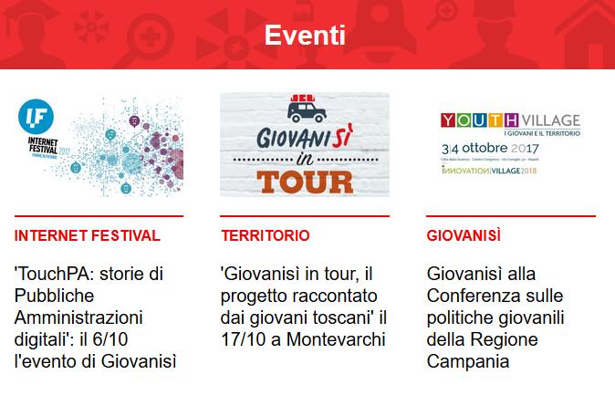 Leggi la newsletter n°73 di Giovanisì (settembre 2017)