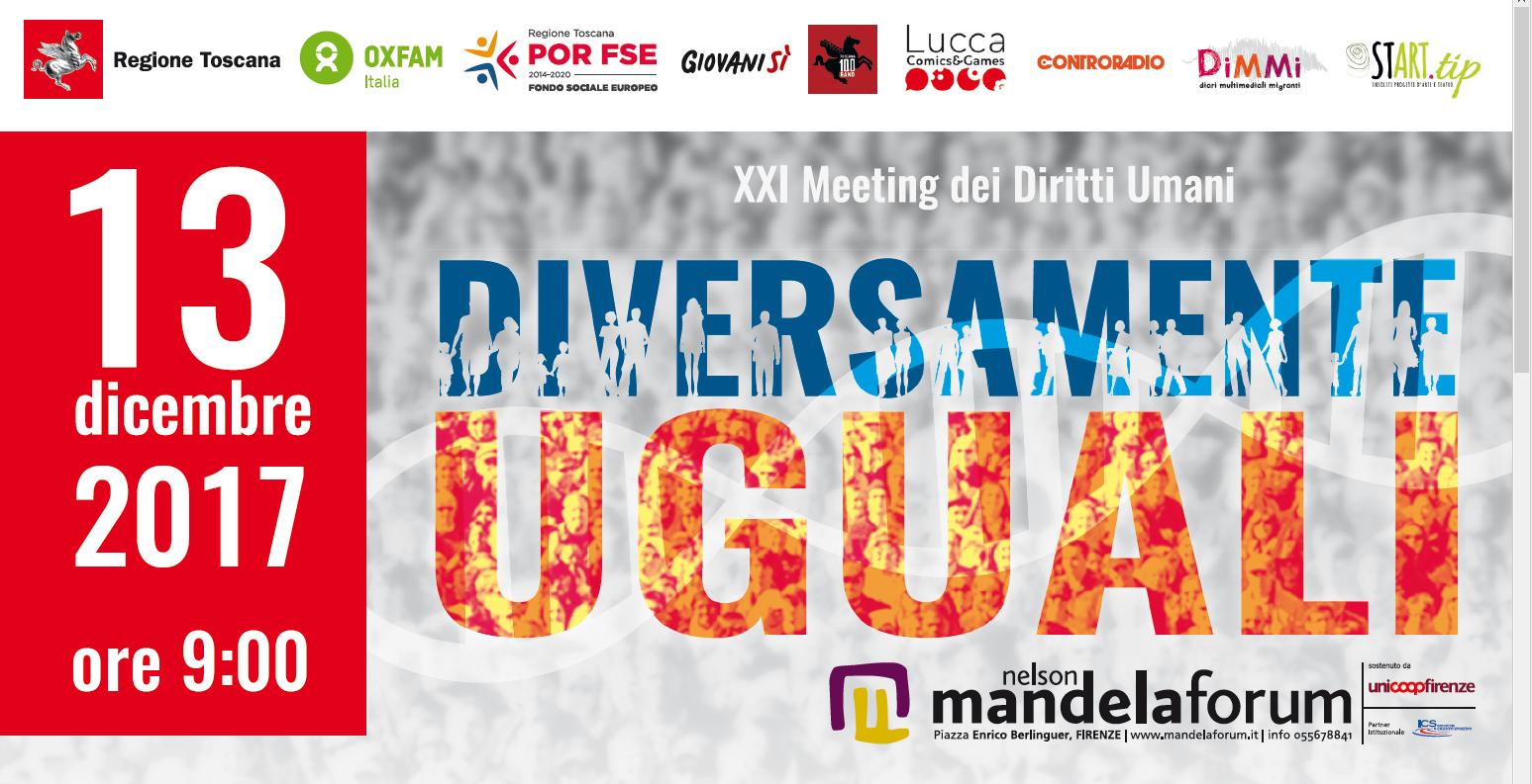 """Diversamente uguali"" al Mandela Forum il meeting dei diritti umani"
