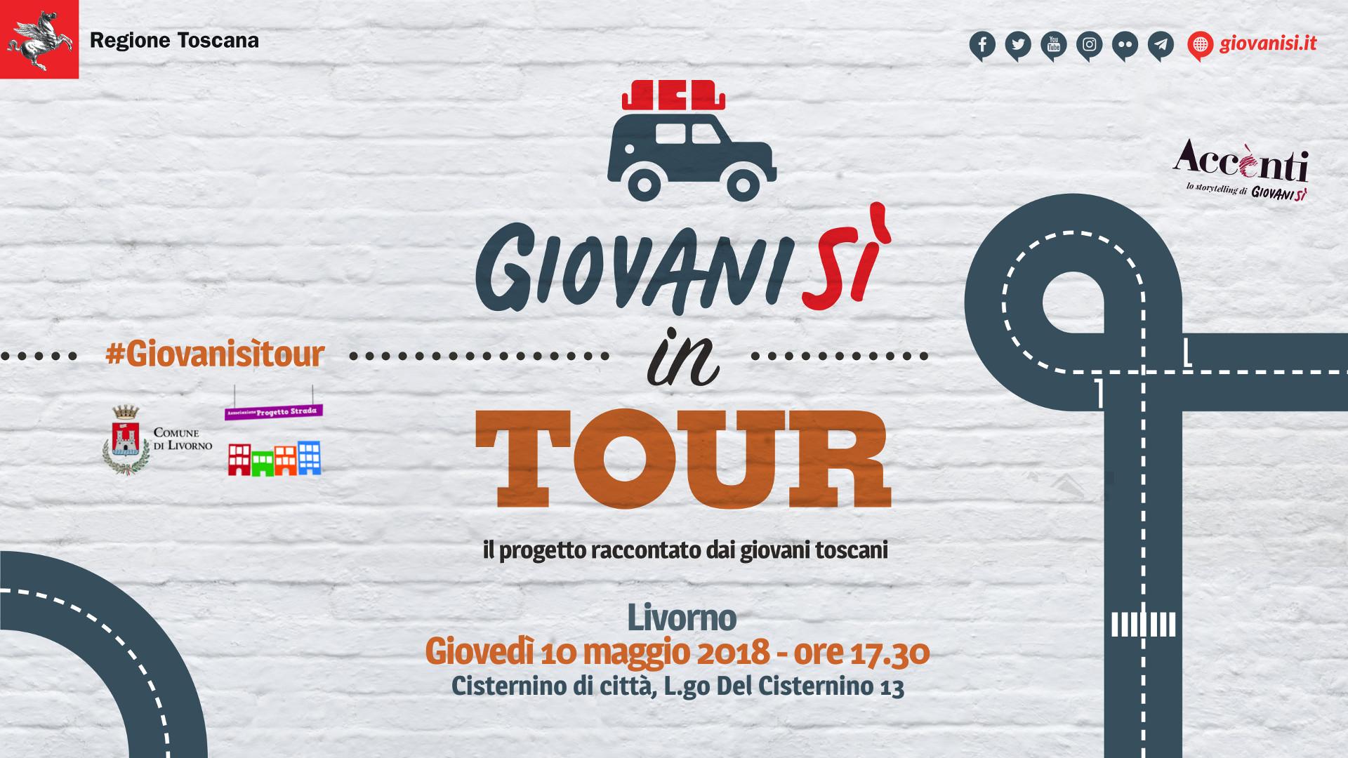 &#8220;Giovanisì in tour: il progetto raccontato dai giovani toscani&#8221; il 10/5 a Livorno <div class='giovanisi-subtitle'>Alle 17.30 c/o Cisternino di città, L.go del Cisternino 13 - Livorno </div>