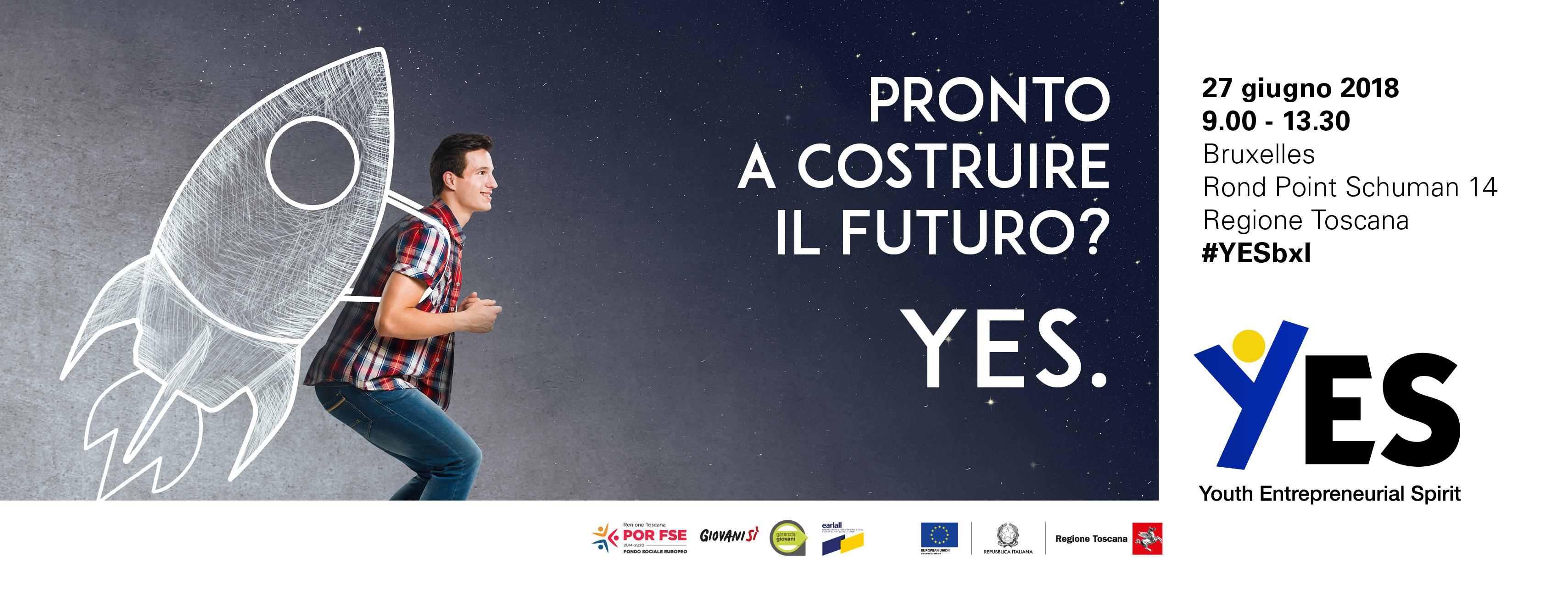 """""""YES – Youth Entrepreneurial Spirit"""", a Bruxelles il convegno promosso da Regione Toscana-Giovanisì all&#8217;interno di Earlall <div class='giovanisi-subtitle'>L&#039;iniziativa è organizzata da Giovanisì, Ufficio di collegamento a Bruxelles e Assessorato all&#039;Istruzione, Formazione e Lavoro della Regione Toscana</div>"""