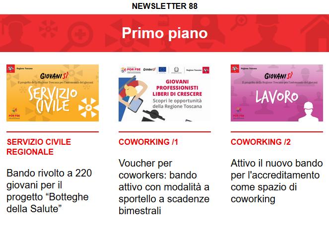Leggi la newsletter n°88 di Giovanisì