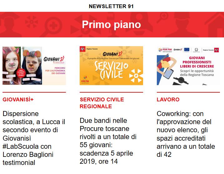 Leggi la newsletter n°91 di Giovanisì